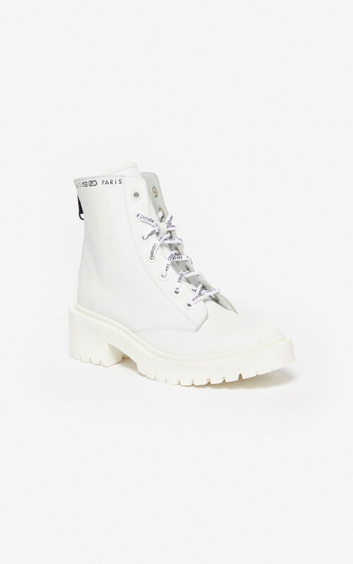 WHITE Pike Eye boots for women KENZO