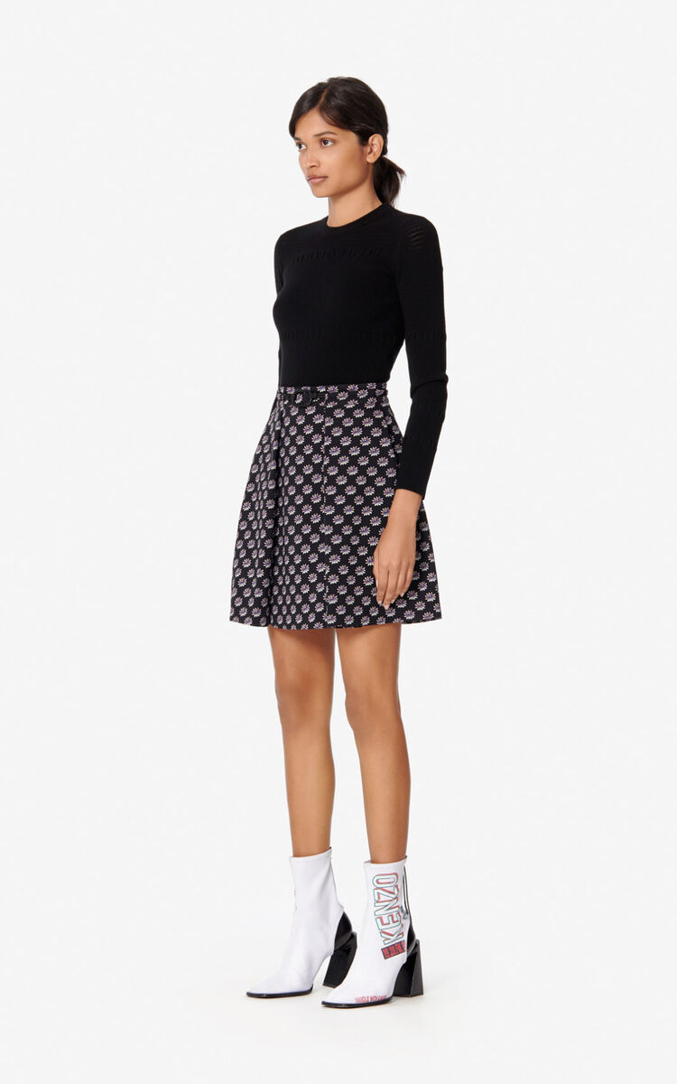 BLACK 'Passion Flower' Skirt for women KENZO