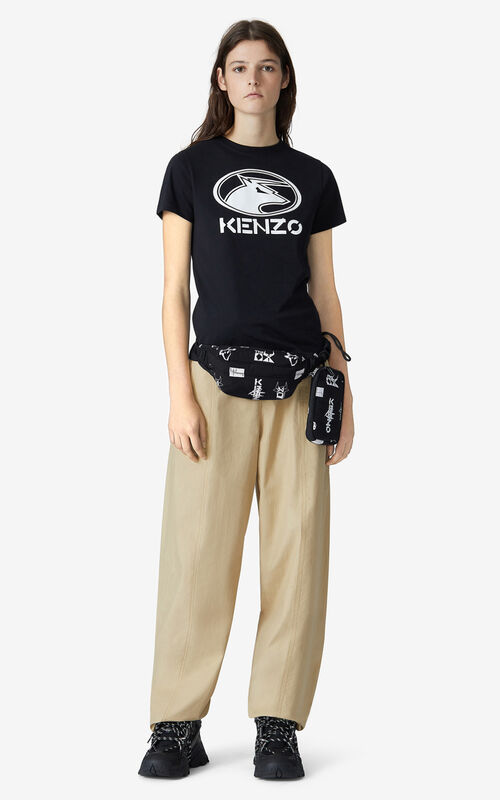 BLACK 'KENZO Ox' T-shirt for women