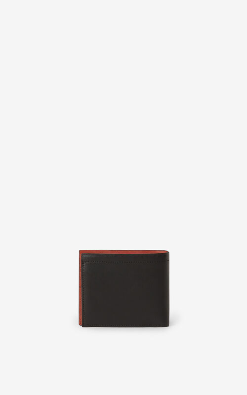 BLACK KENZO Cadet small leather wallet for unisex