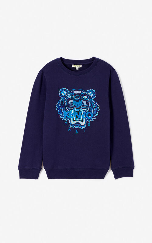 408557ae8d43 NAVY BLUE Tiger sweatshirt for men KENZO ...