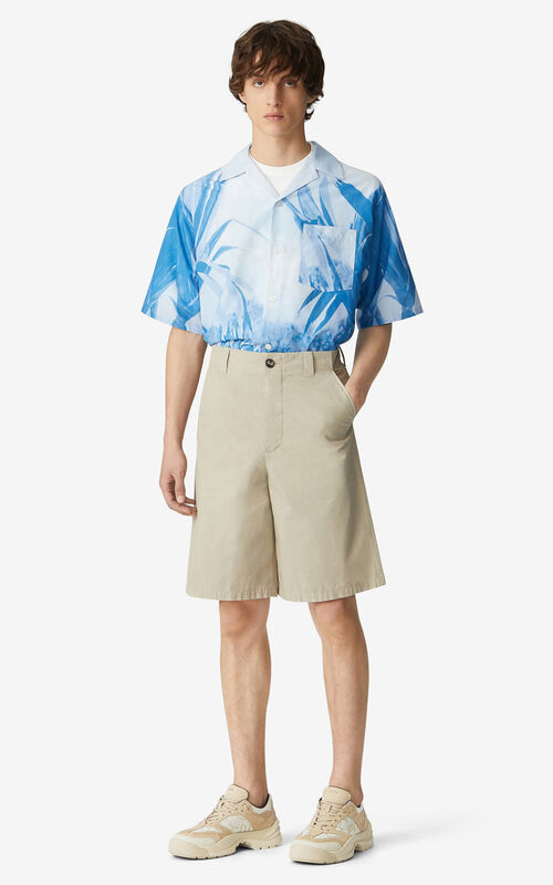 TAUPE 'High Summer Capsule' chino shorts for men KENZO