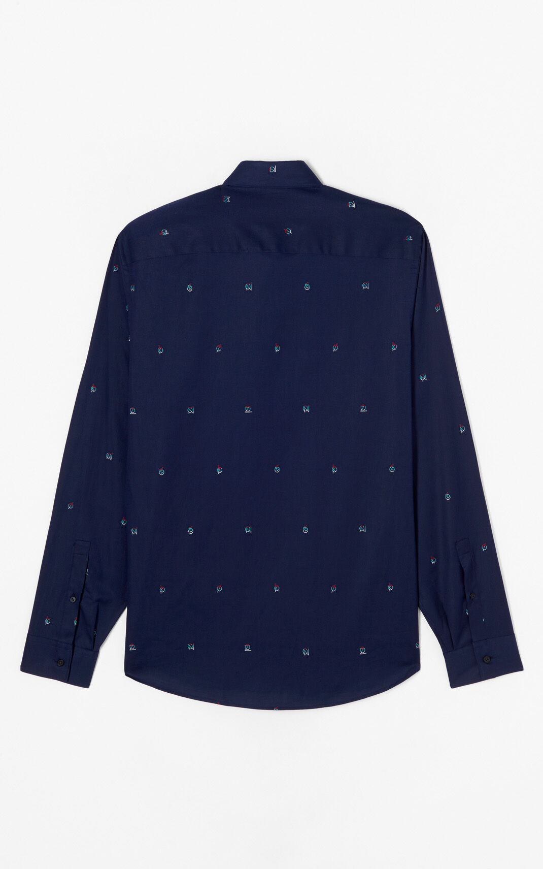 NAVY BLUE 'YMO' Printed shirt for men KENZO