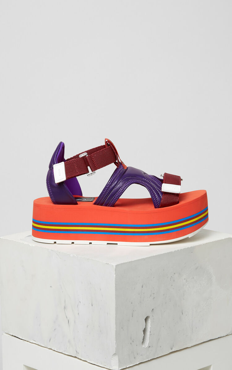 BRIGHT PURPLE Papaya sandals for women KENZO