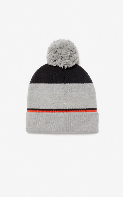 MIDDLE GREY KENZO logo beanie for women