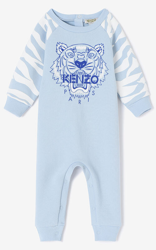 6a6645df Baby Boy · SKY BLUE Tiger Stripes Babygrow for men KENZO ...