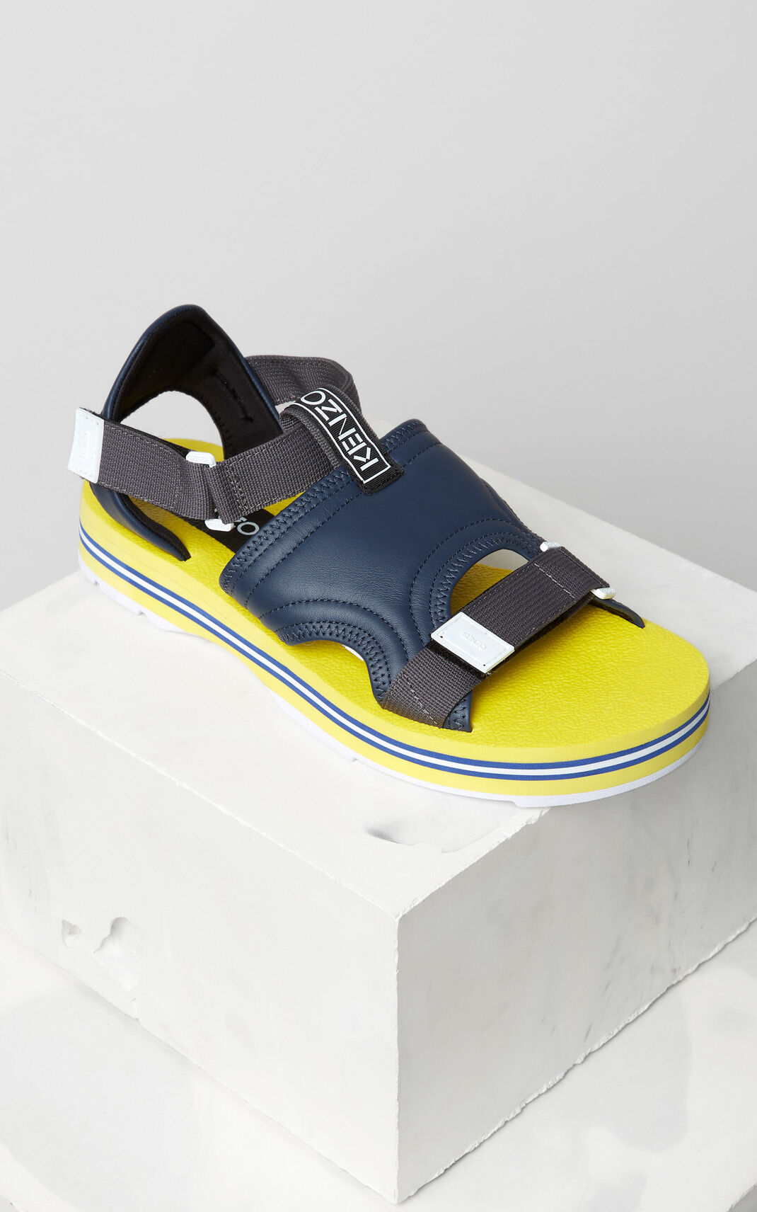 NAVY BLUE Papaya sandals for men KENZO