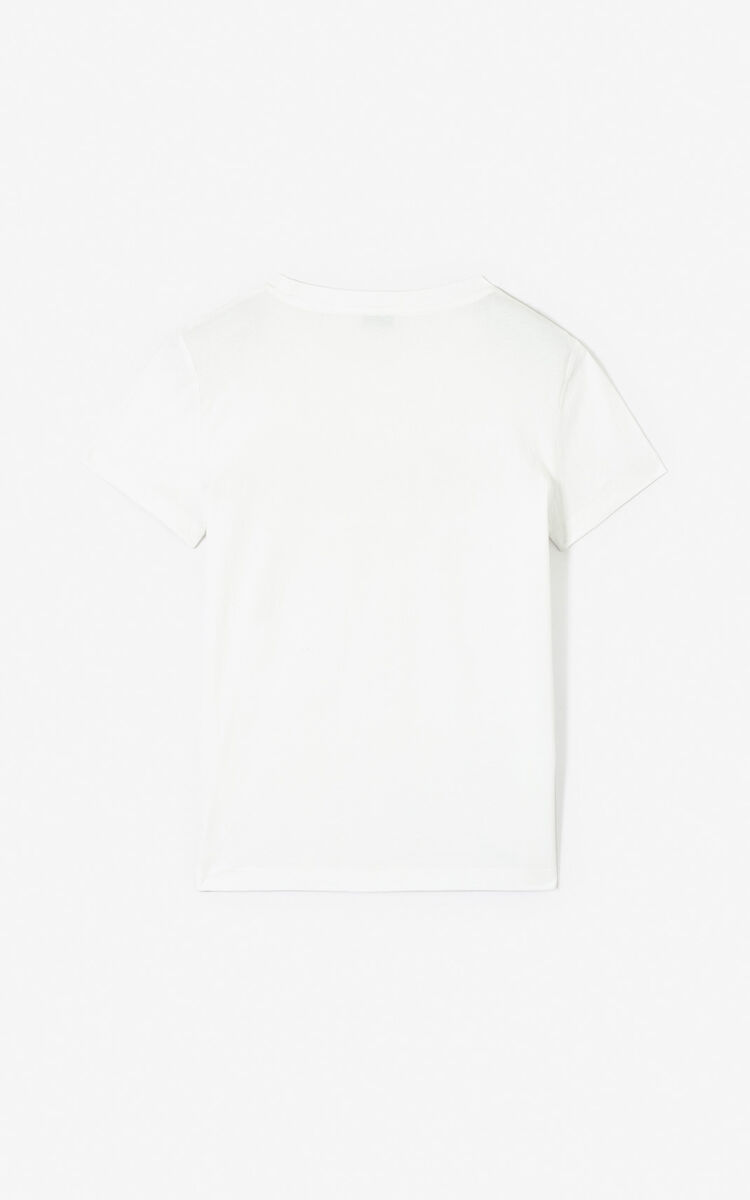 WHITE 'Dots' KENZO Paris T-shirt 'High Summer Capsule collection' for women