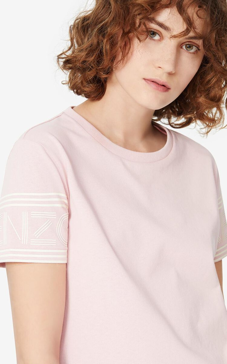 FADED PINK KENZO Logo t-shirt for women