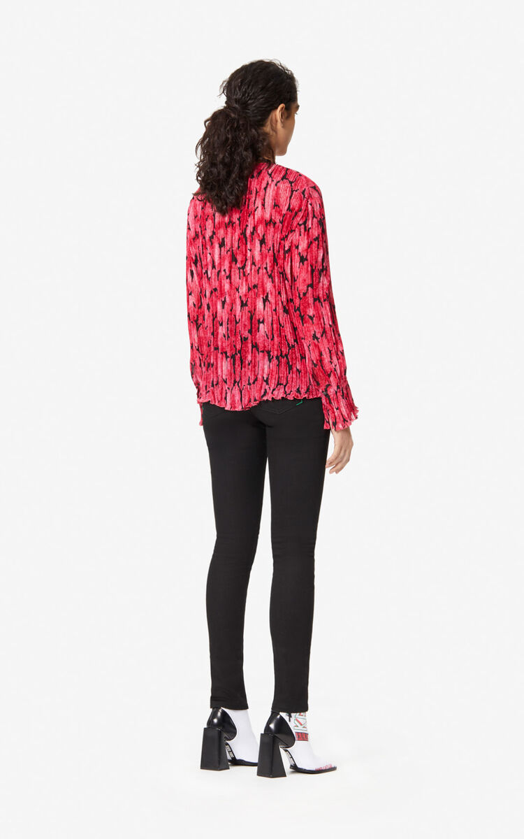 DEEP FUSCHIA Pleated 'Peonie' top for women KENZO