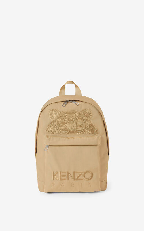 BEIGE Canvas Kampus Tiger backpack  for women KENZO