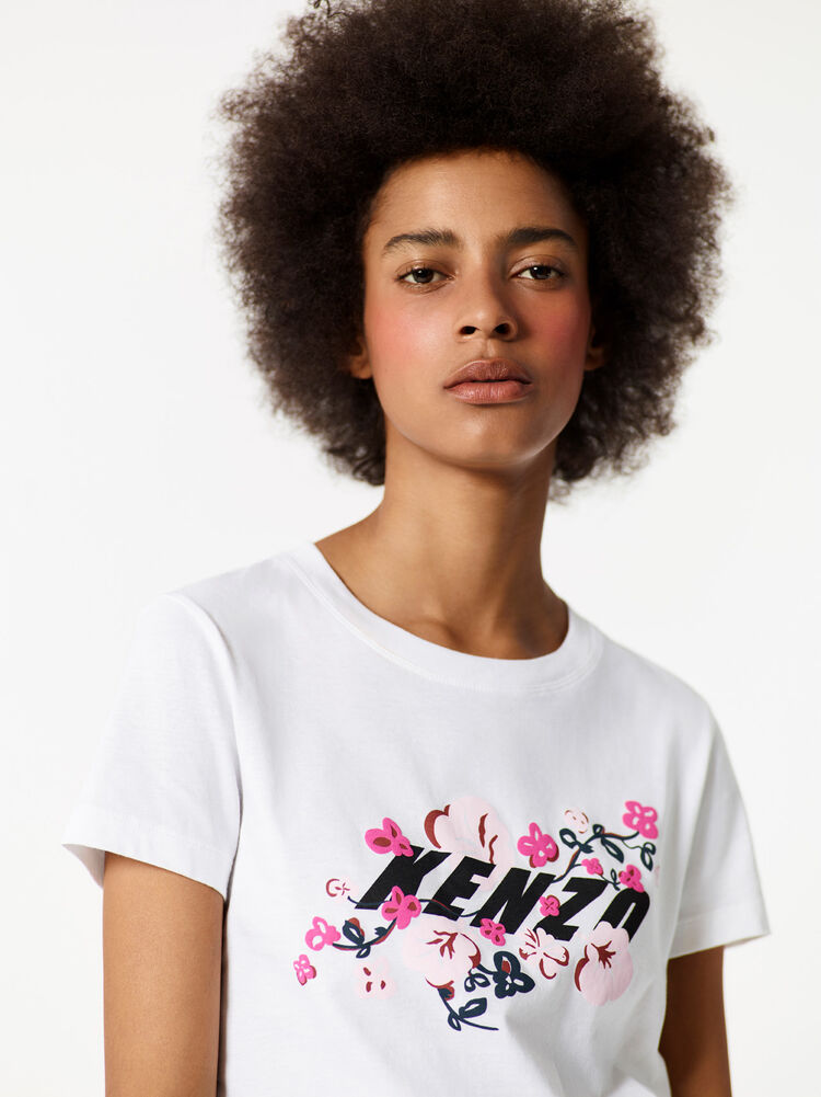 WHITE KENZO x Floral Leaf' T-shirt  for women