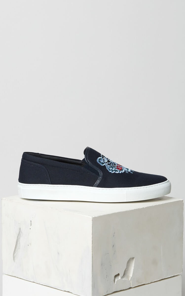 NAVY BLUE K-Skate Tiger slip-on for unisex KENZO