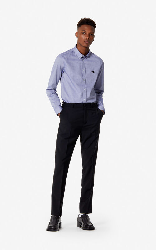 BLACK Fitted trousers for men KENZO