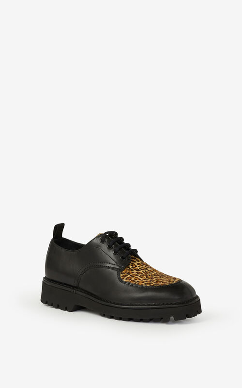 CAMEL K-MOUNT leather derbies for unisex KENZO