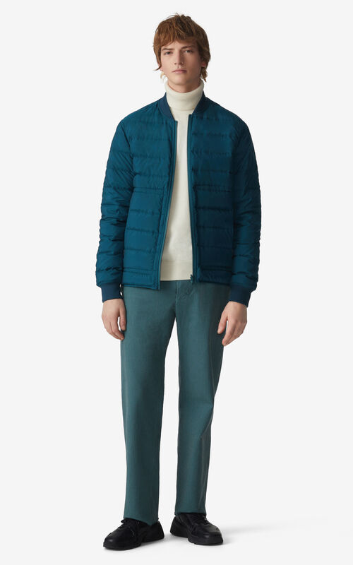DUCK BLUE Reversible puffer jacket for men KENZO