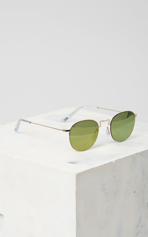 GOLD Flat Lens 'Knox' Sunglasses for unisex KENZO
