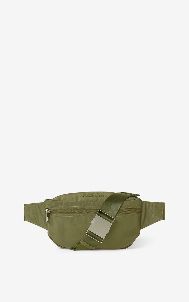 KHAKI Canvas Kampus Tiger bumbag  for unisex KENZO