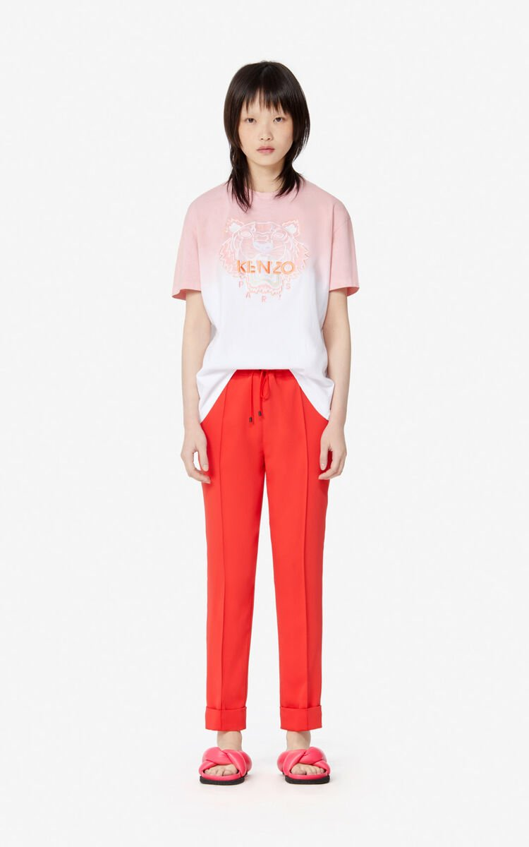 MEDIUM RED Pleated trousers for women KENZO