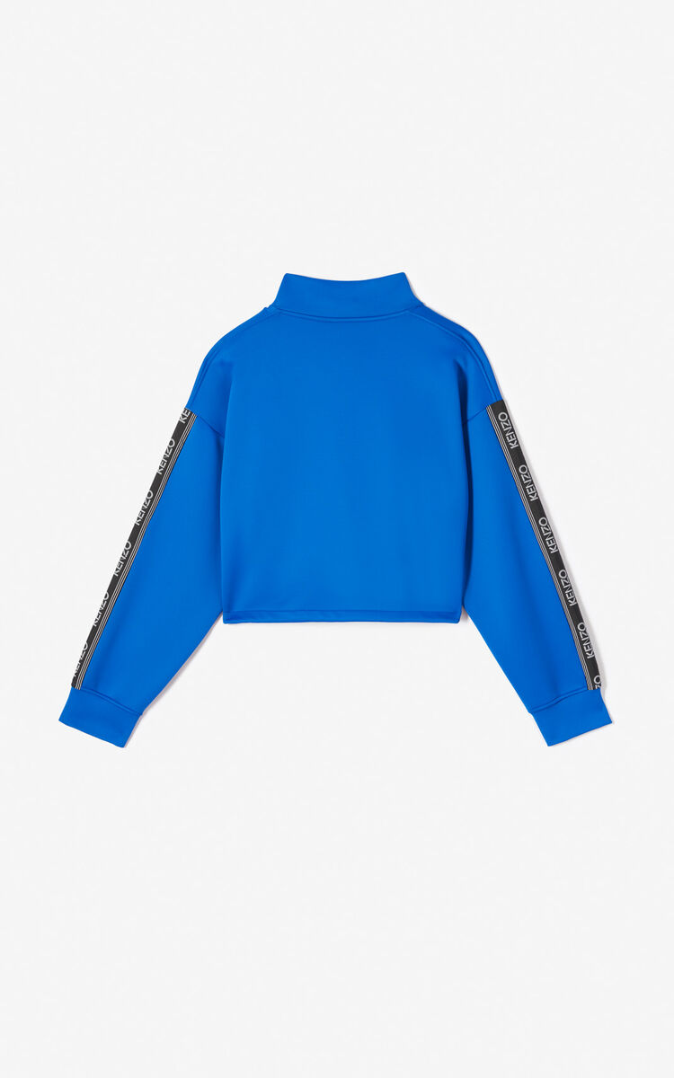 FRENCH BLUE Kenzo Logo crop top for women