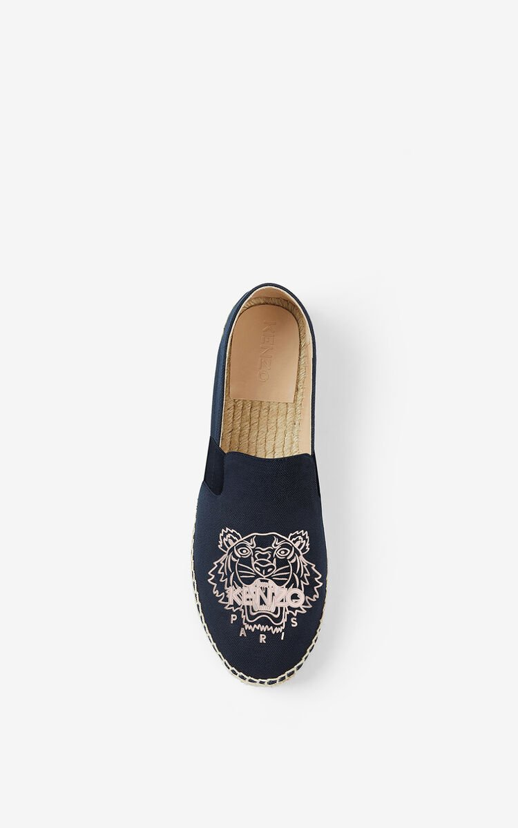 MIDNIGHT BLUE Tiger elasticated canvas espadrilles for women KENZO