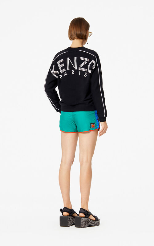 BLACK KENZO Logo sweatshirt for women
