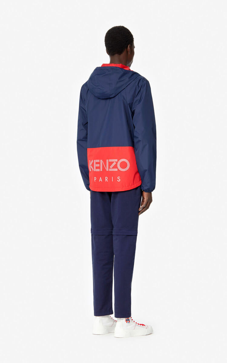 MIDNIGHT BLUE Fishnet' reversible windbreaker for men KENZO