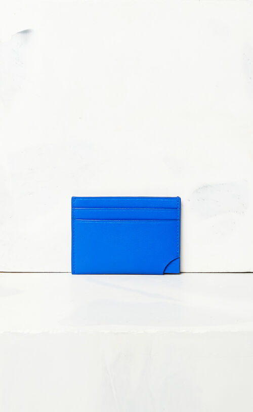 FRENCH BLUE 'Jumping Tiger' leather card holder for unisex KENZO