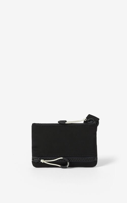 BLACK KENZO Sport small bag for unisex