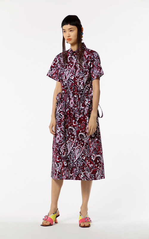 BORDEAUX Paisley pattern dress shirt for women KENZO