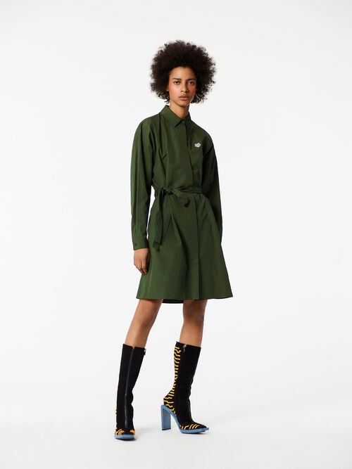 DARK KHAKI Tiger Shirt Dress for women KENZO