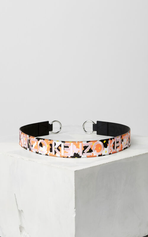 DEEP ORANGE 'Jackie Flowers' Strap for Mini Kalifornia for women KENZO