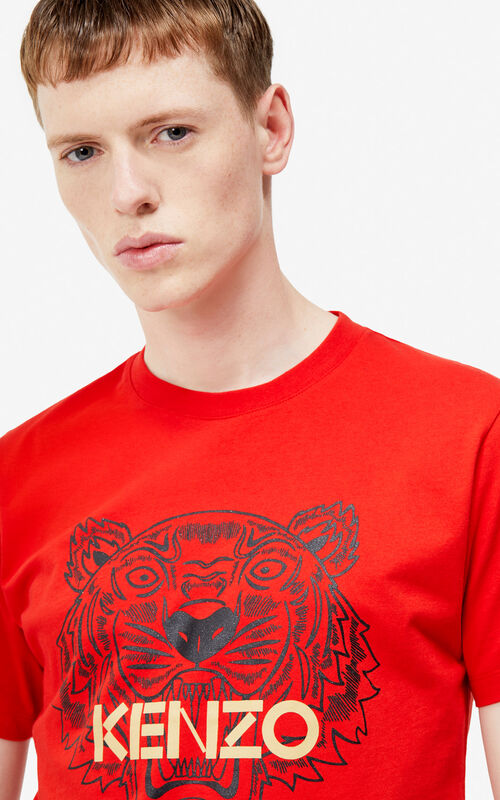 37418ba6492d VERMILLION Tiger t-shirt  Exclusive Capsule  for men KENZO ...