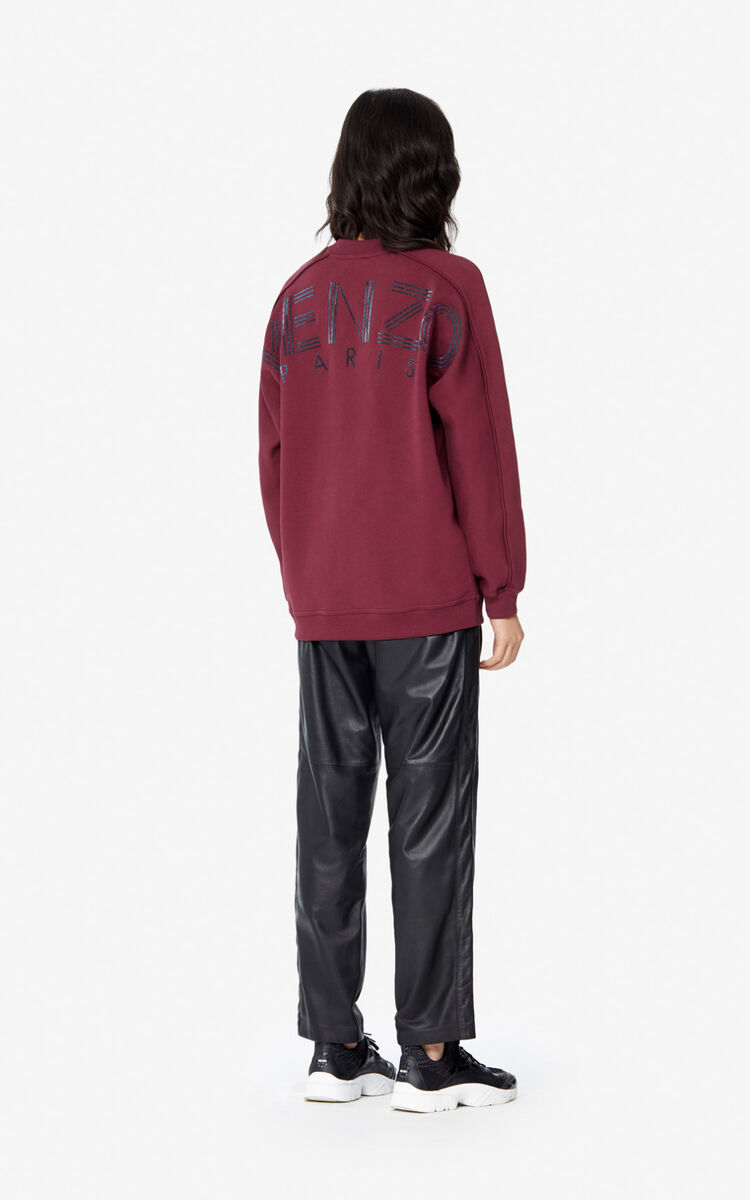 BORDEAUX Glitter KENZO Logo sweatshirt for women