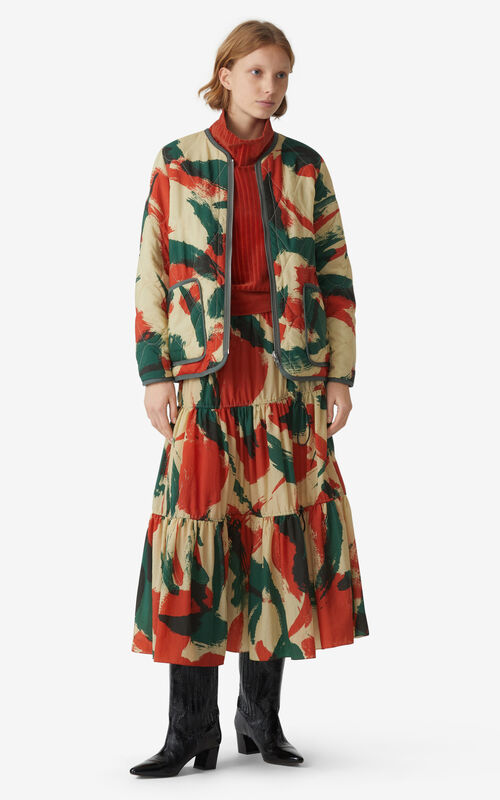 PAPRIKA 'Brushed Camo' reversible padded jacket for women KENZO