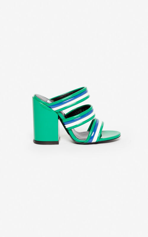 GRASS GREEN Ana high-heeled mules for unisex KENZO
