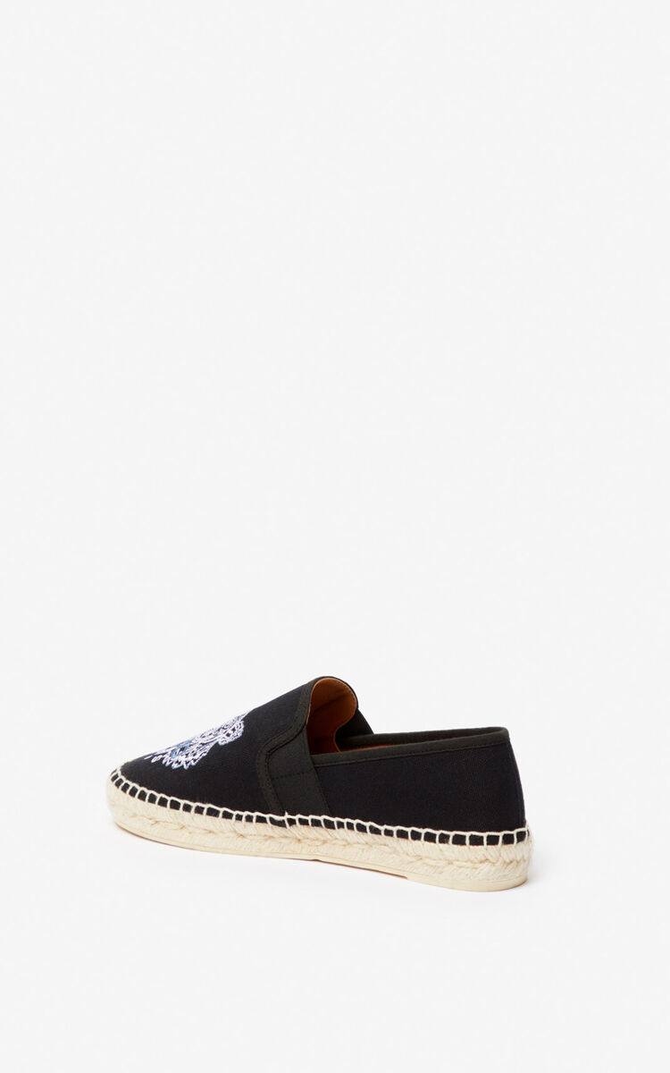 BLACK Tiger elasticated espadrilles for unisex KENZO