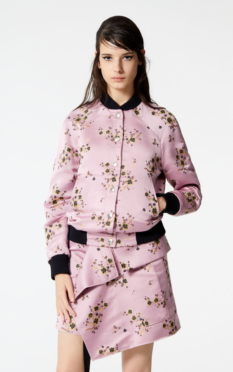 PASTEL PINK 'Cheongsam Flower' teddy jacket for women KENZO