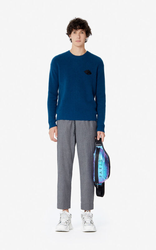 DUCK BLUE Cashmere Eye jumper for men KENZO