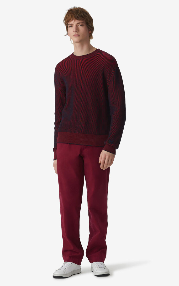 MAGENTA Two-tone jumper for women KENZO