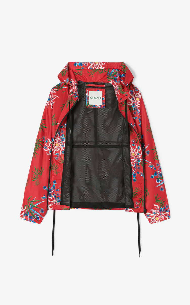 MEDIUM RED 'Chinese New Year Capsule' 'Sea Lily' windstopper for women KENZO