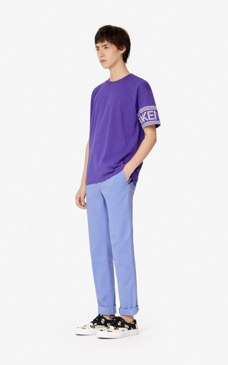 AUBERGINE KENZO Logo T-shirt   for men