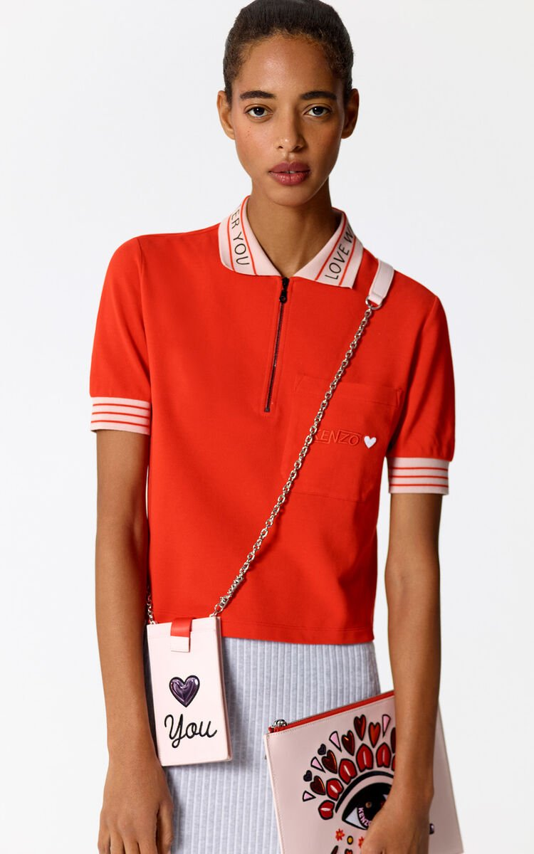 MEDIUM RED Hyper KENZO polo shirt for women