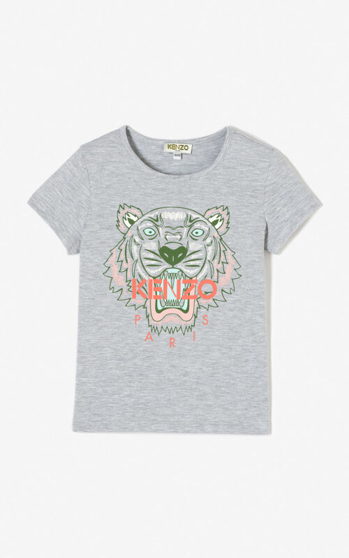 MISTY GREY Tiger t-shirt for women KENZO