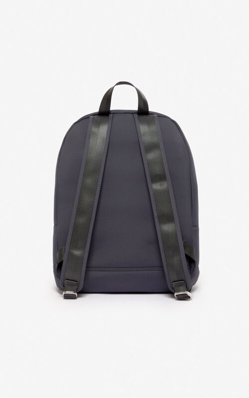 ANTHRACITE Large Tiger backpack in neoprene for unisex KENZO