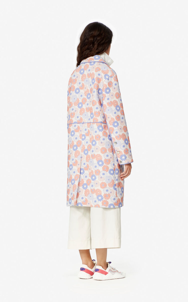 FADED PINK Ume Flower' coat for women KENZO