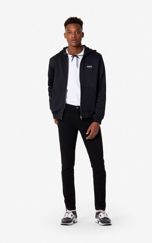 BLACK 'Bamboo Tiger' jeans for men KENZO