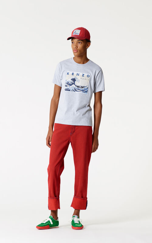 MEDIUM RED Turn-up jeans for men KENZO
