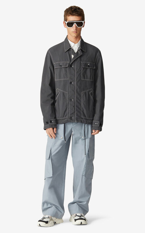 ANTHRACITE Work jacket for men KENZO