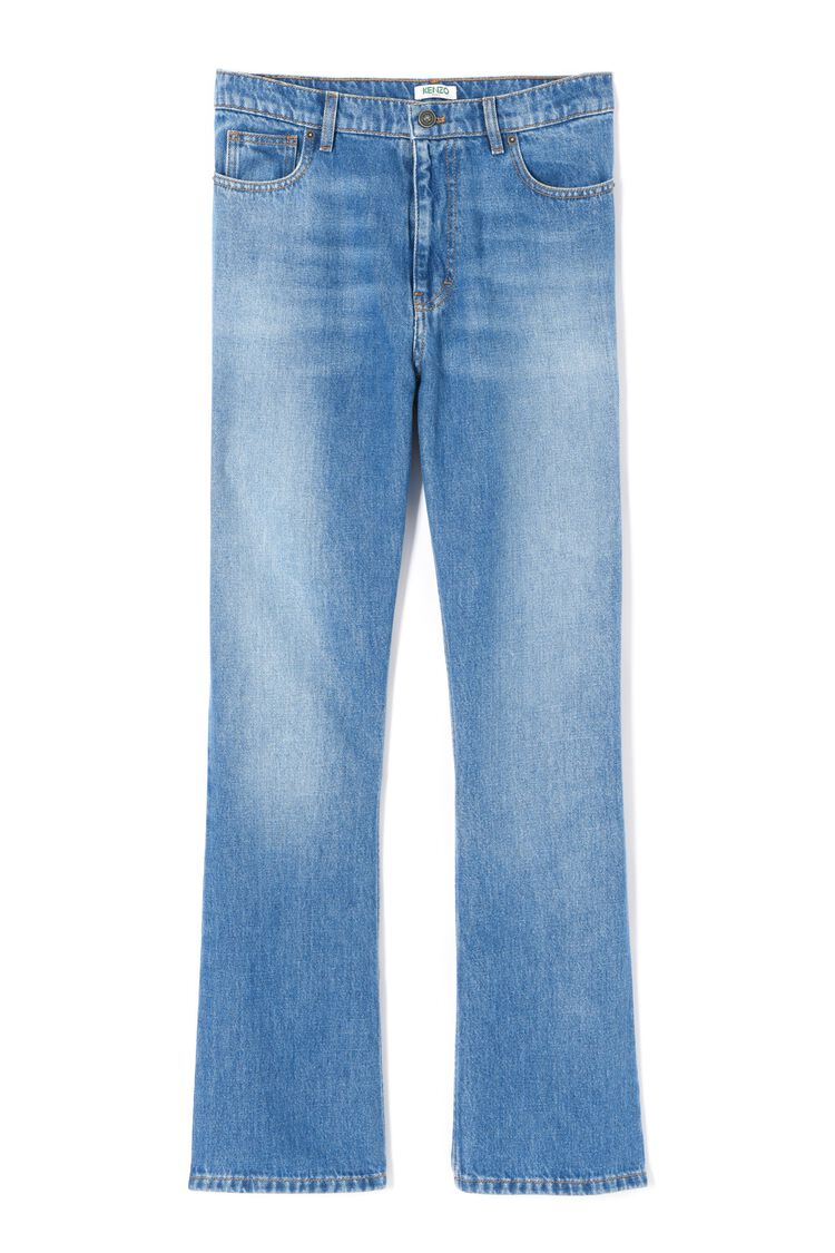 SKY BLUE Straight cut jeans for women KENZO